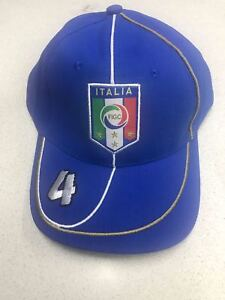 Berretto Cotone 1 Visiera Nazionale Con Italia Figc Cappello cT1lFJK