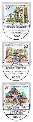 761-763 Mit Ersttags-sonderstempeln Berlin 1986: Portale Und Tore Nr 1510 1a