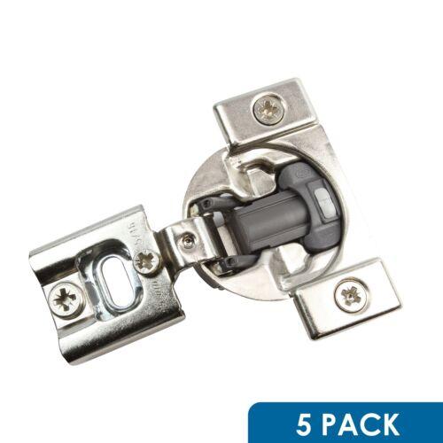 "5 Pack Blum 105 Deg 3//8/"" Overlay Press in Soft Close Cabinet Hinge 38N358B.06"