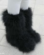 Womens Faux Fur Winter Thicken Snow Boots Hip Hop Furry Warm No-slip Shoes Fgg55