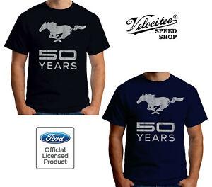 Sensible Velocitee T-shirt Homme Official Licensed Ford Mustang 50 Ans Poney A19241-afficher Le Titre D'origine