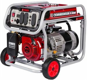 JEGS 86065 Portable Generator 5000W Surge Watts 4250W Rated Watts 9 Hr. Run Time