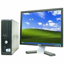 """Dell 780 Small Form with Dell 17"""" LCD, Dual-Core CPU, & fully licensed Windows 7"""