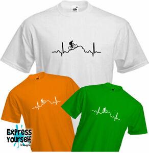 Bike Heartbeat Pulse Sweatshirt Mountain Cycling Bicycle Ride Funny Gift Men Top