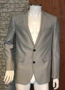 Primark-Suit-Jacket-Mens-Size-Medium-New-Grey-Slim-fit-Blazer