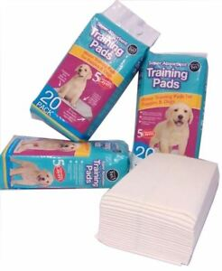 NEW 100 SUPER ABSORBENT TRAINING HOUSE PADS PUPPIES DOG PUPPY TOILET WEE 60x45CM