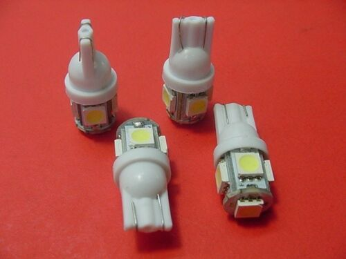 4 BRIGHT White 5 LEDs Side Marker License Plate Clock Dash Lights Bulbs Chevy