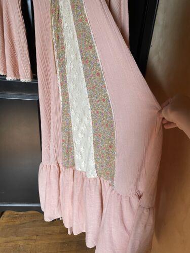 1970s Jody T Angel Sleeve Maxi Dress Hippy Boho Gu