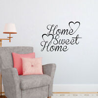 Home Sweet Home Quote With Heart Wall Decor Art Removable Wall Sticker Vinyl
