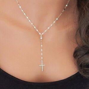 Kreuz-Halskette-fuer-Herren-Jesus-Christentum-Anhaenger-Halskette-Re