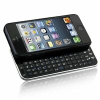 New Bluetooth Wireless Slideout Keyboard Case for Apple iPhone SE 5S 5 - Black