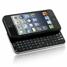 New Bluetooth Wireless Slideout Keyboard Case for Apple iPhone SE 5S 5 - Black