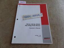 Case Rr144 Rr180 Rr204 Flex Wing Finish Mower Operators Manual 87757964