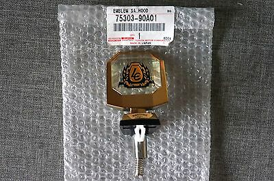 GENUINE Toyota LandCruiser 60 Series Gold Bonnet Hood Badge Emblem Ornament