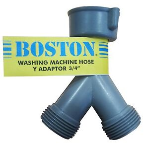 Details About Boston Washing Machine Y Adaptor Suits 3 4 Bsp Outlet Allows 2 Hose In 1 Tap