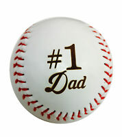 1 Dad Laser Engraved Synthetic Leather Baseball Gift
