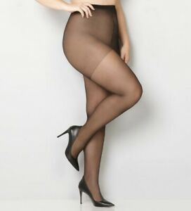NEW-Avenue-Body-Silky-Control-Top-Pantyhose-Sizes-3x-4x-E-EE-Coffee-or-Jet-Black