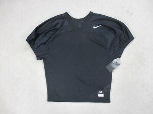 NEW-Nike-Football-Jersey-Adult-Medium-Black-White-Mesh-Uniform-Swoosh-Mens