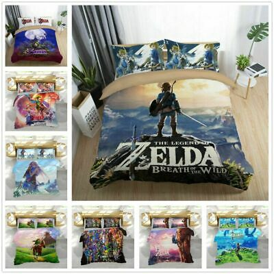 3D The Legend of Zelda Kids Bedding Set Duvet Cover Pillowcase Comforter Cover