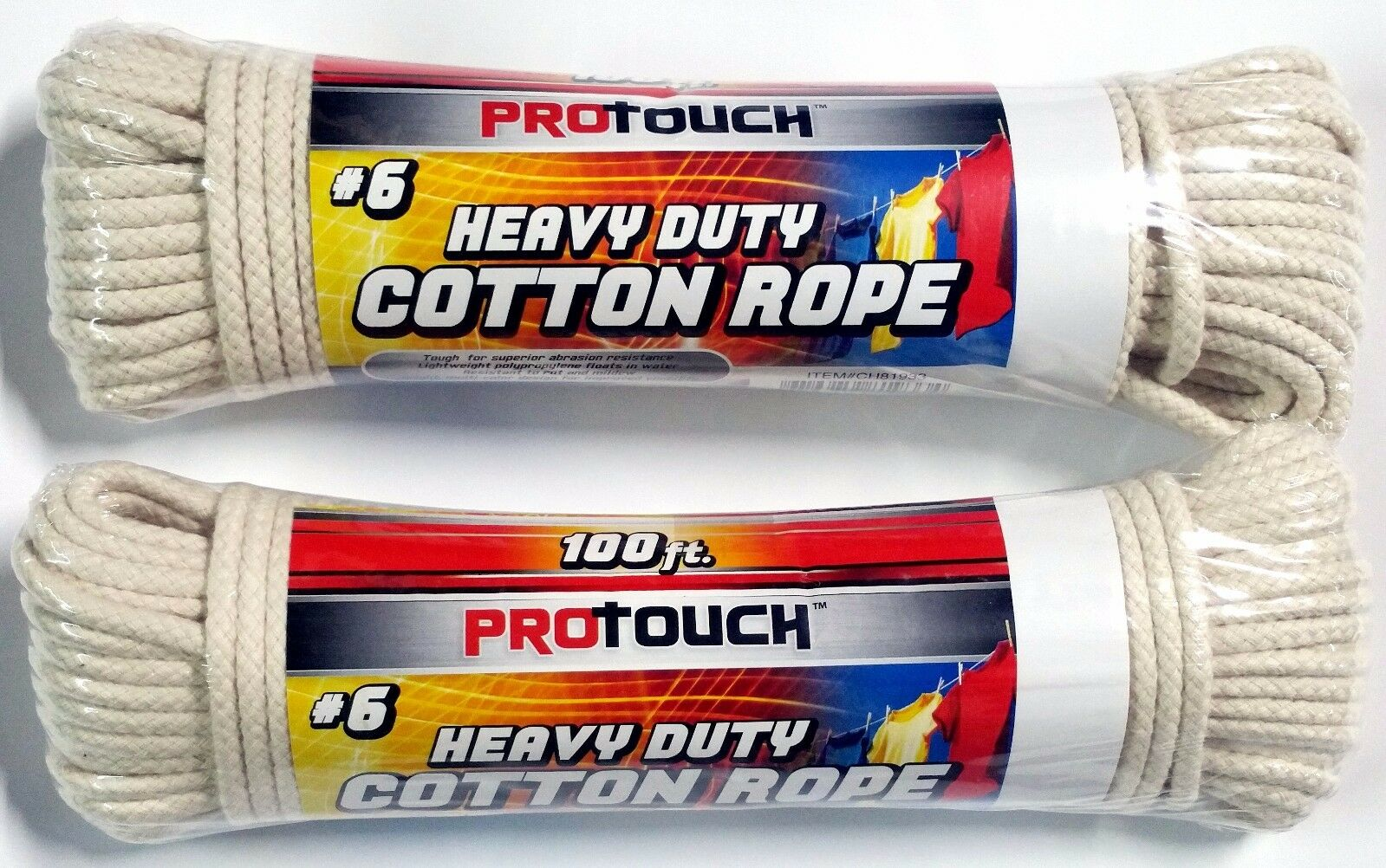 1000 Ft (10 rolls x 100 ft each) Cotton Clothesline Rope String Clothes Line