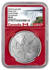 2018-Canada-1-oz-Silver-Maple-Leaf-Incuse-5-NGC-MS69-FR-Red-SKU52141