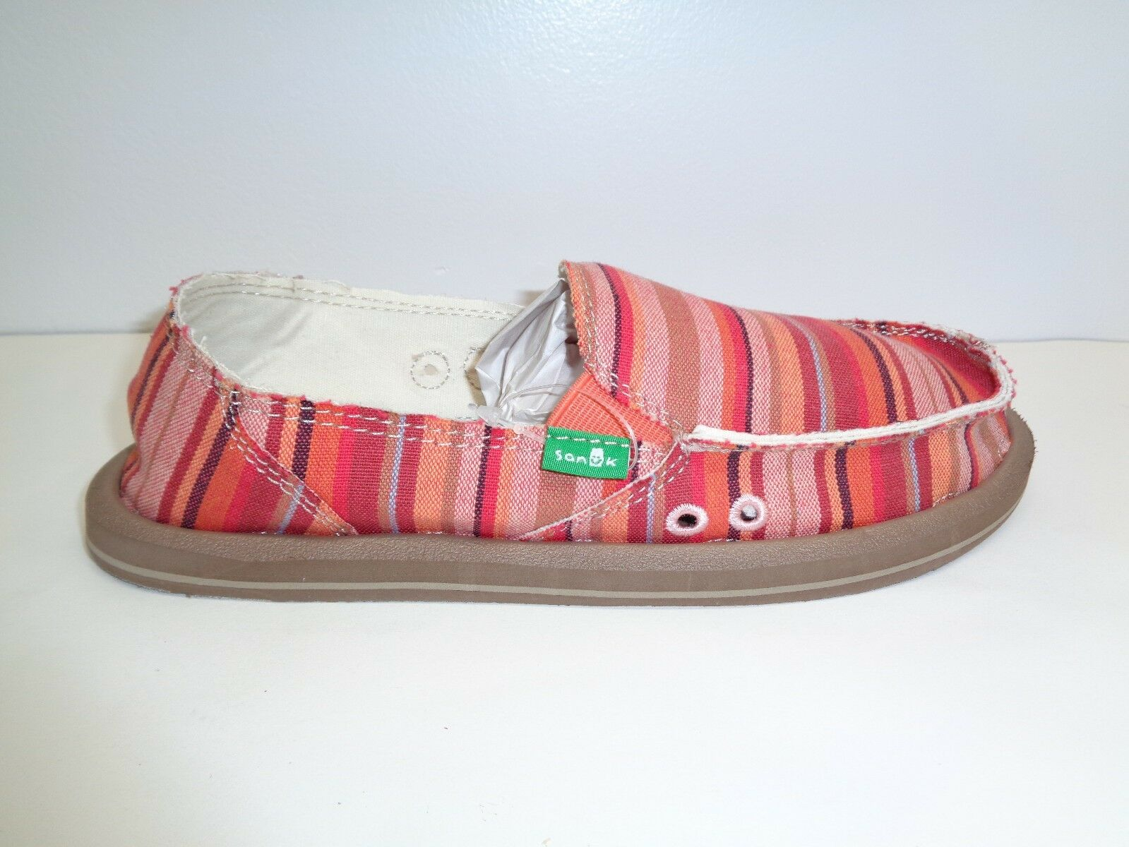 Sanuk Size 6 DONNA Coral Poncho Shoes Canvas Loafers New Donna Shoes Poncho da9085