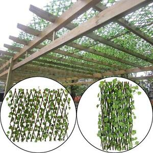 Expandable Artificial Ivy Leaf Fence Decor Privacy Screen Patio Yard Garden Ebay
