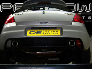 Details about SUZUKI SWIFT STAINLESS STEEL CUSTOM BUILT EXHAUST SYSTEM DUAL  SINGLE TAIL PIPES
