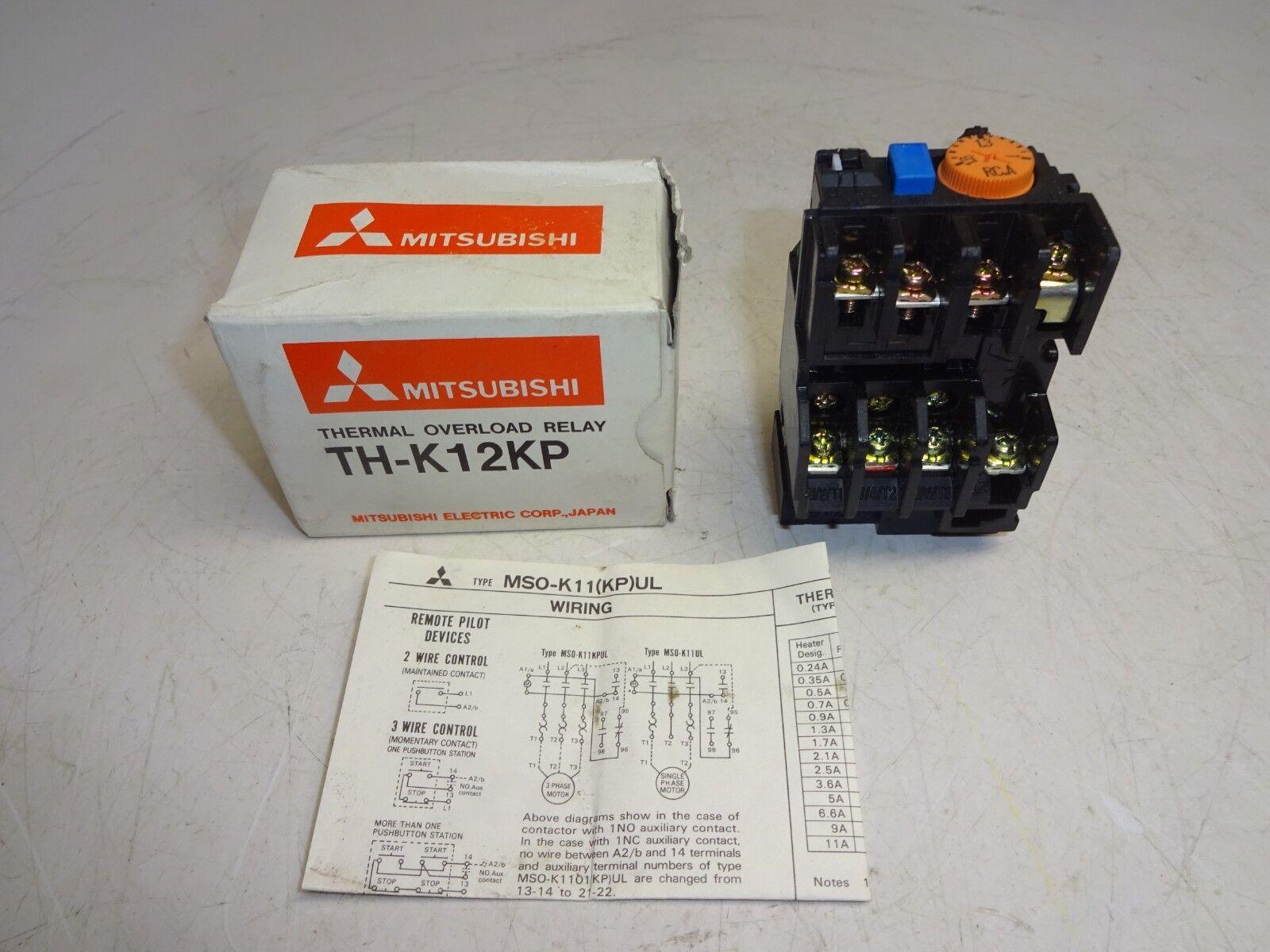 Mitsubishi Th K12kp Ul Thermal Overload Relay Ebay Electric 3 Phase Motor Wiring Diagram