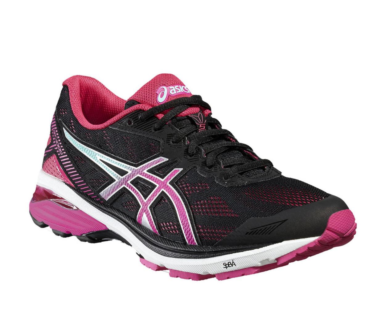Asics GT-1000 5 Mujer Negro/Rosa/Azul Zapatos De Entrenamiento Nuevo