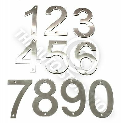 Stick on Self Adhesive 3M Backing 10cm No 1 Stainless Steel House Numbers