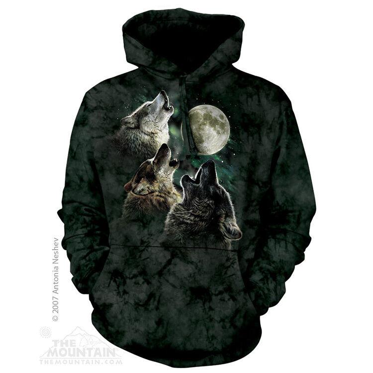The Mountain Three Wolf Moon Animals Adult Hoodie Hooded Sweatshirt 722053