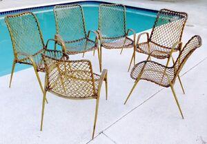 Vintage Mid Century Modern Patio Chairs Troy Sunshade Company Resin