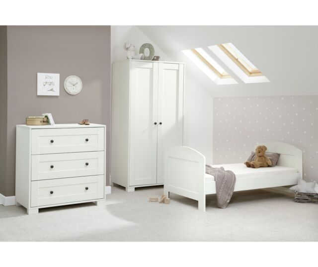 Mamas Papas Harrow Bedroom 3 Piece Baby Furniture Set White