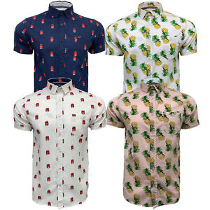 Mens-Cotton-Shirt-Brave-Soul-Pineapple-Can-Printed-Short-Sleeved-Casual-Summer