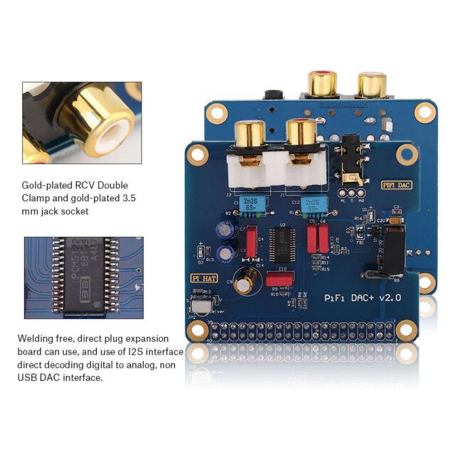 Pifi DAC Pcm5122 DAC Sound Audio Card I2s Interface for Raspberry Pi 3 JS