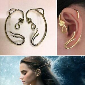 Disney Beauty And The Beast Belle Rose Earrings Ear Cuff
