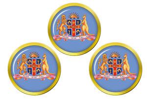 Neuf-Sud-Galles-Manteau-de-Bras-Marqueurs-de-Balles-de-Golf