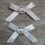 Satin-Ribbon-Bows-with-Heart-30mm-Baby-Small-Pink-Blue-Lemon-White-Ivory-10 thumbnail 1