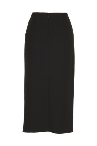 """Busy Womens Black Skirt 31/"""" Length Front Slit"""