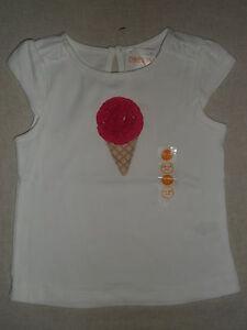 GYMBOREE ICE CREAM SHOP PINK S//S SWEATER 0 3 12 18 NWT