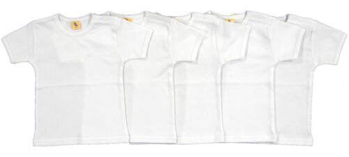 Set T-Shirt Kurzarm 5-tlg weiß Größe 80 86 92 98 104 110 116 122 128 134 140