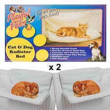 New x 2 Playful Pets Pet Cat Dog Animal Kitten Puppy Radiator Warm Fleece Basket