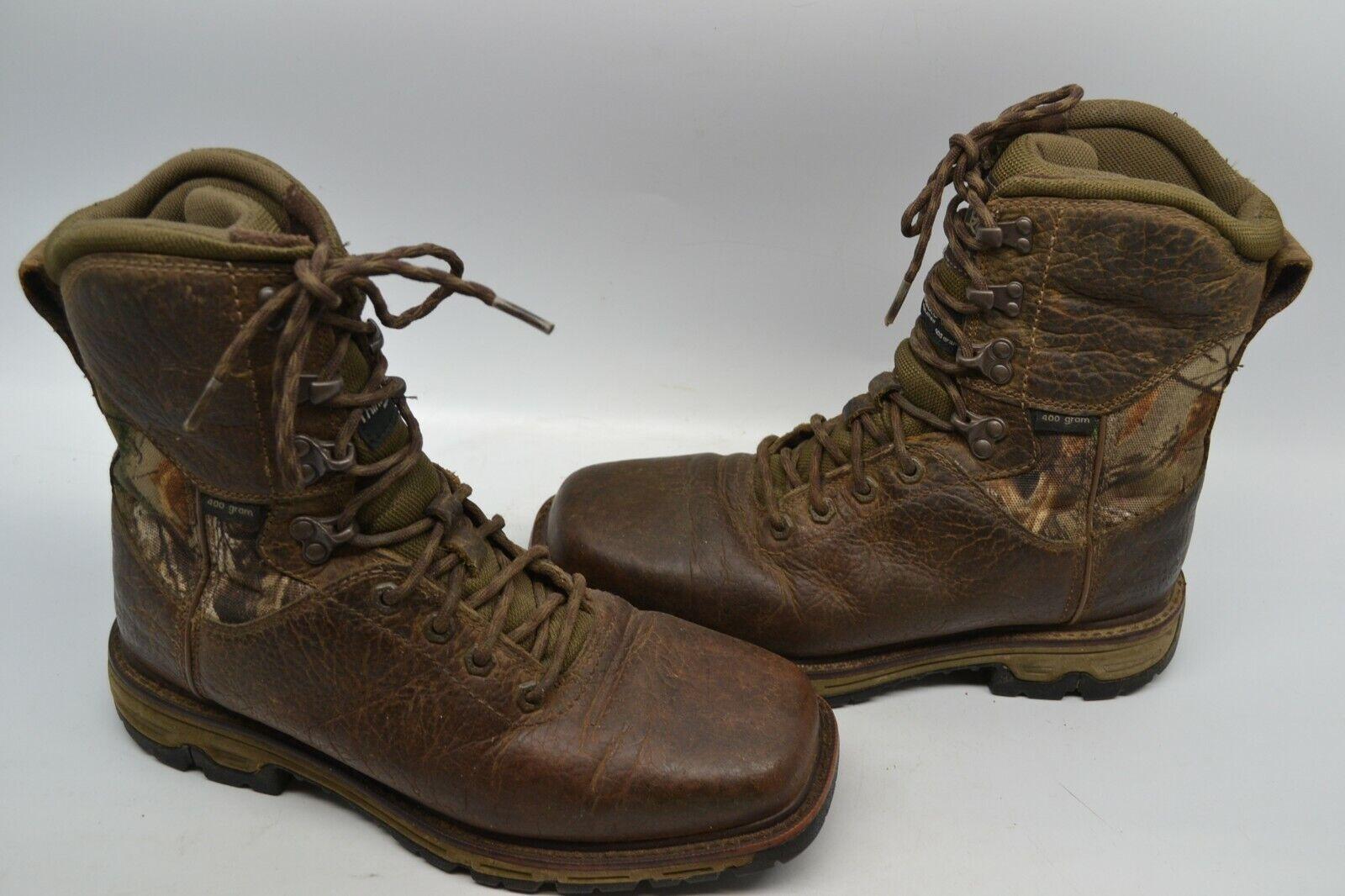 Ariat Para Hombre Conquista 8  H2O 400G Aislado botas De Trabajo Marrón Ceniza 10016336 8 D Camo