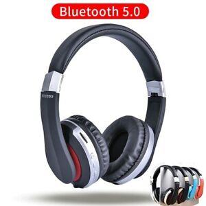 On-Ear-Kopfhoerer-Bluetooth5-0-Kabellos-Faltbare-Bass-Headphones-Stereo-Kopfhrer