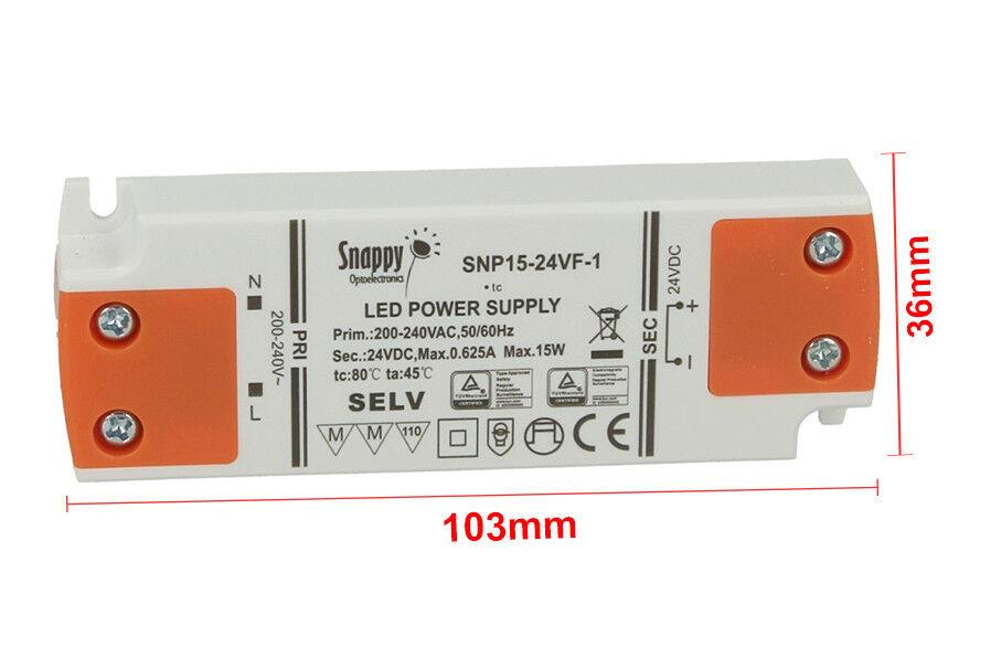 Alimentation Transformateur Transformateur Alimentation CV Mince 24V 15W 0,625A 16,5mm SNP15-24VF-1 26c9ca