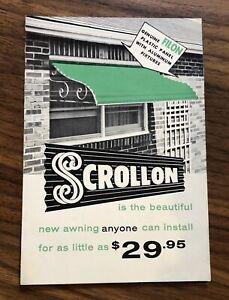 Brochure ScrollOn Awning Window Sales Vintage 1950s 1960s ...