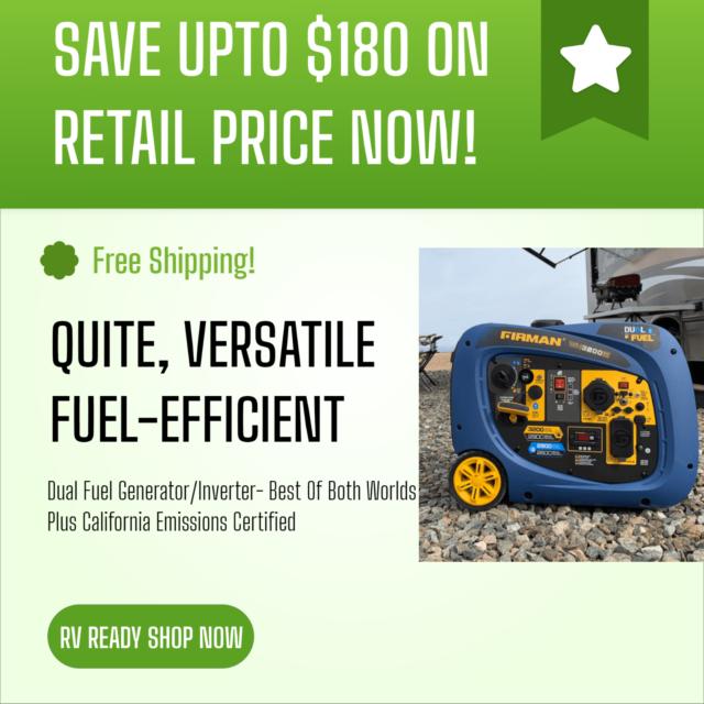 3200 Watt Portable Inverter Generator Dual Gasoline Or Propane Fuel Camping Plus