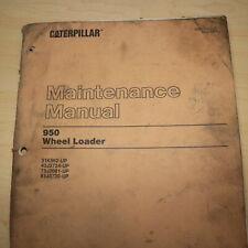 Cat Caterpillar 950 Wheel Loader Maintenance Manual Guide Owner Front End Book