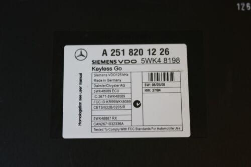 Original Mercedes Benz Steuergerät Siemens VDO A2518201226 5WK48198 Keyless Go
